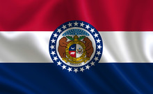 Flag Of The State Missouri. A ...