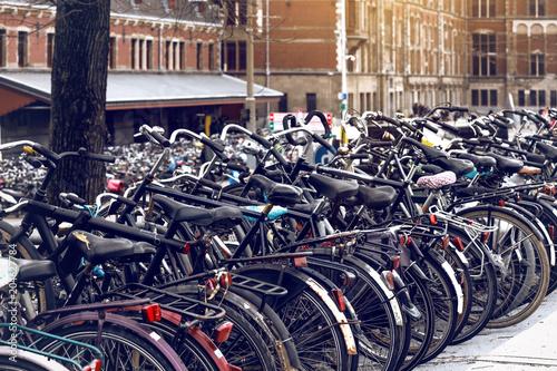 Papiers peints Pays d Afrique bicycle parking in amsterdam, netherlands