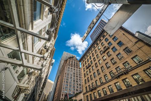 Tuinposter Amerikaanse Plekken Skyscrapers in San Francisco financial district