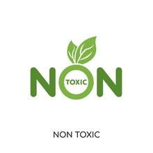 Non Toxic Logo Isolated On Whi...