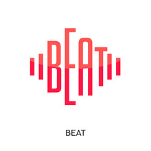 Beat Logo Vector Icon Isolated...
