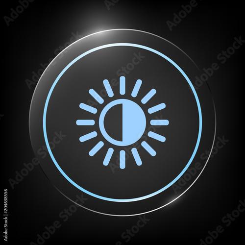 Photo Brightness symbol icon
