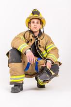 American Male Fire Fighter