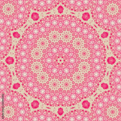 Cotton fabric it is pink wallpaper