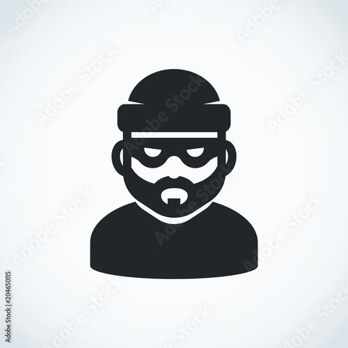Fotografía Robber icon. Bandit.