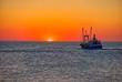 canvas print picture - Sonnenuntergang an der Nordsee, Dänemark