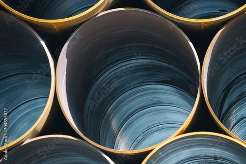 Carta da parati  Stack Of Big Industrial Metal Pipes