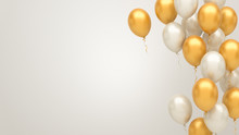 Gold And Silver Balloons Backg...