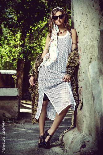 Poster Gypsy bohemian glamorous style