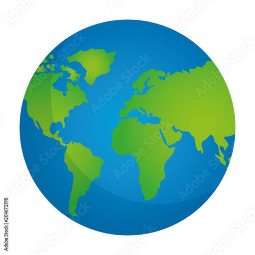 Plakat globe map world location geography vector illustration