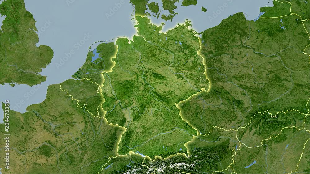Fototapety, obrazy: Germany, satellite B - light glow