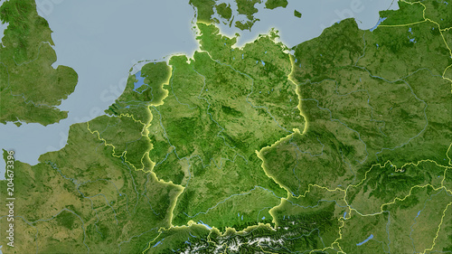 Fotografía  Germany, satellite B - light glow