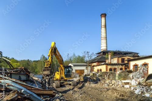 Deurstickers Historisch geb. Ruinen, Heilstätte Beelitz