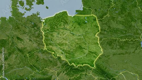 Poland, satellite B - light glow
