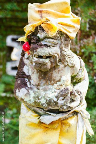 Foto op Canvas Historisch mon. Balinese demon guard statue