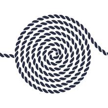Rope Spiral Seamless Pattern