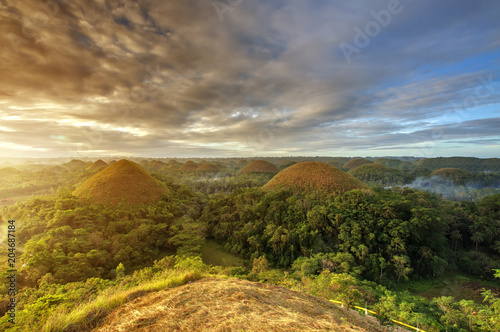 Foto auf Gartenposter Hugel Spectacular look at the chocolate hills, Bohol, Philippines