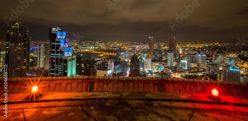 Foto op Plexiglas Bruin Kuala Lumpur city in the night