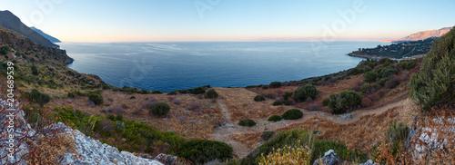 Tuinposter Mediterraans Europa Evening Zingaro sea coast, Sicily, Italy