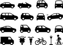 Transportation Icons - Black S...
