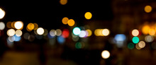 Bokeh Traffic Light At Night I...