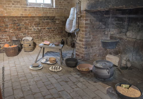 Fotografie, Obraz  Recreation of Fireplace in Slave Quarters, Mt. Vernon