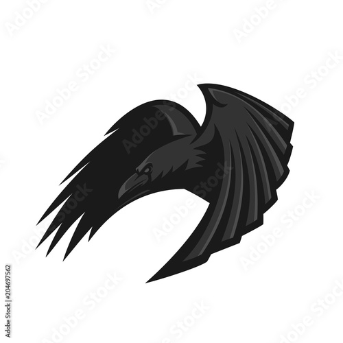 raven/crow bird esport gaming mascot logo template Tablou Canvas