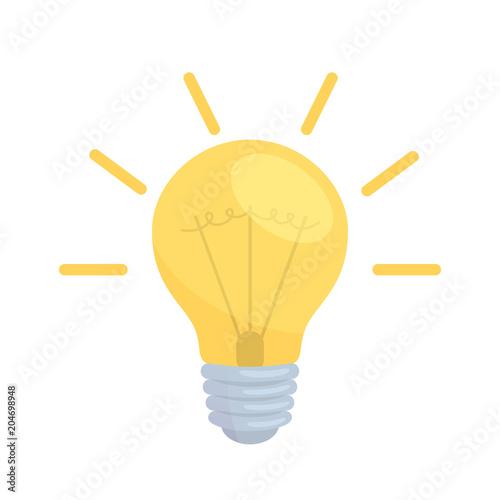 Photo electric lamp illustration
