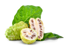 Noni Fruit Isolated On The Whi...