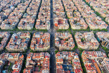 Barcelona Aerial View, Famous ...
