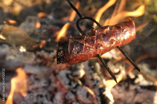 Kiełbasa na ognisku - 204720725