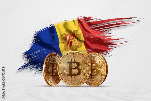 Crypto currency, gold coin BITCOIN BTC Wallpaper Mural