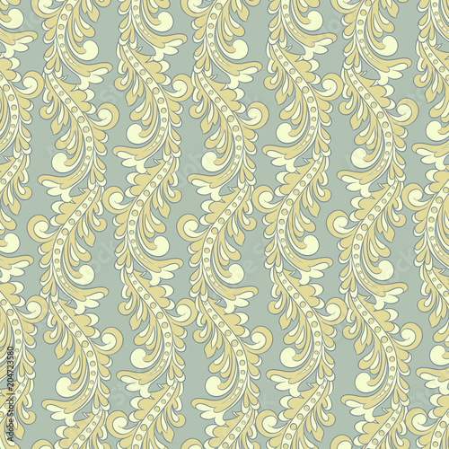 In de dag Kunstmatig vintage floral seamless vector pattern