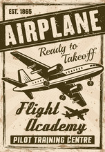 Flight Academy Vector Vintage ...