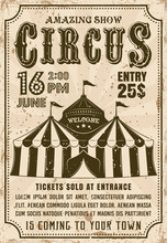 Circus Tent Vector Invitation ...
