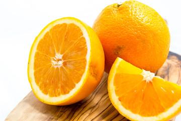 yellow oranges on white background