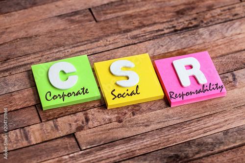 Photo post-it acronym : CSR