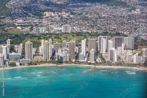 Poster Oceanië Above Oahu