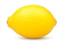 Whole Lemon On White Backgroun...