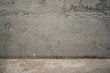 grungy concrete wall corner for background