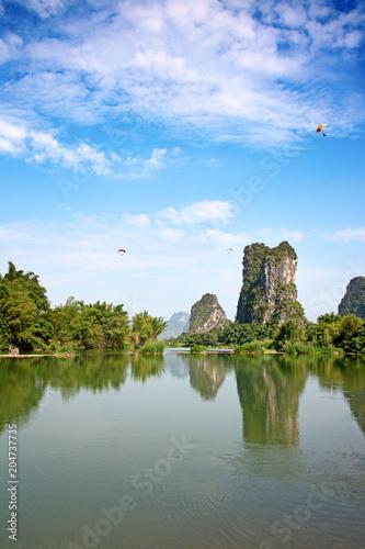 Deurstickers Asia land Li River