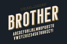 Trendy Vintage Display Font De...
