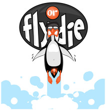 Cartoon Vector Penguin Flying ...