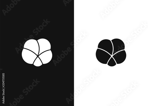Staande foto Retro sign Logo design template 06