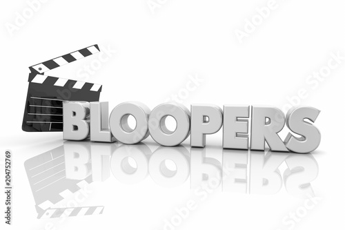 Photo Bloopers Movie Film Clapper Board Mistakes 3d Render Illustration