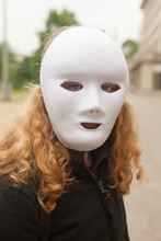 Girl With White Mask.