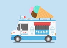 Ice Cream Truck, Mobile Shop. ...