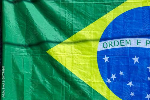 Fotografía  Closeup of Brazilian flag