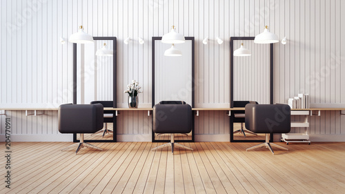 Modern salon interior / 3D render image