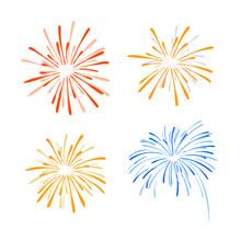 Fireworks, Vector Illustration...